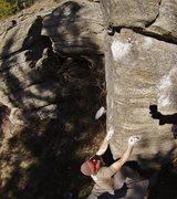 Rock Climbing Photo: Sit start to Chimpansy and Stoned Monkey