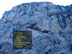Rock Climbing Photo: The Headwall beta.