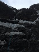 Rock Climbing Photo: Taken from belay at base by GP.