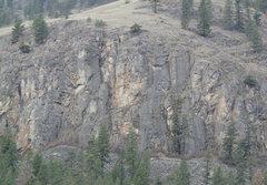 Rock Climbing Photo: Blue Goat Bluff topo
