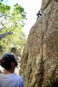 Rock Climbing Photo: Tim Beccue belays sister Alyssa on Economique (5.1...