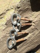 Rock Climbing Photo: The reason why the bolts were so wiggly and loose ...