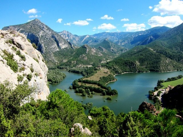 Rock Climbing Photo: Oliana Reservoir from Coll de Nargó