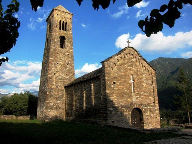 Rock Climbing Photo: Eleventh century Romanesque church at Coll de Narg...