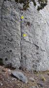 Rock Climbing Photo: Las primeras placas de la ruta.