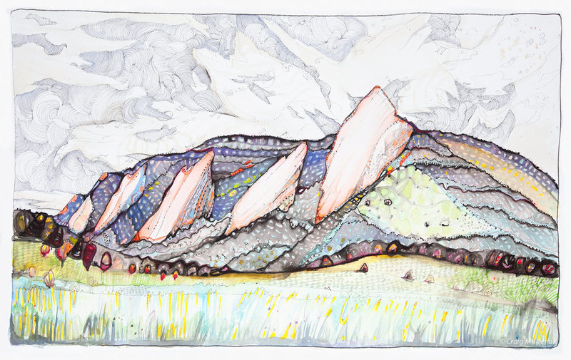 Flatiron Script -  22&quot; x 14&quot;  (pen/ink/watercolor)<br> www.blownminds.blogspot.com