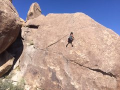 Rock Climbing Photo: Becca Dulatre-Corbin handling it...