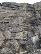 Rock Climbing Photo: Storm Warning topo