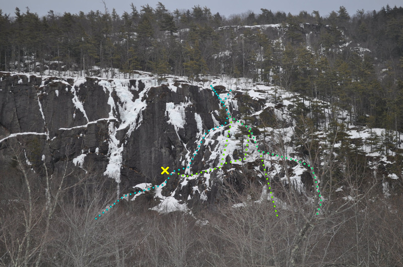 Rock Climbing Photo: Barrett's Cove crag, March 21, 2015.