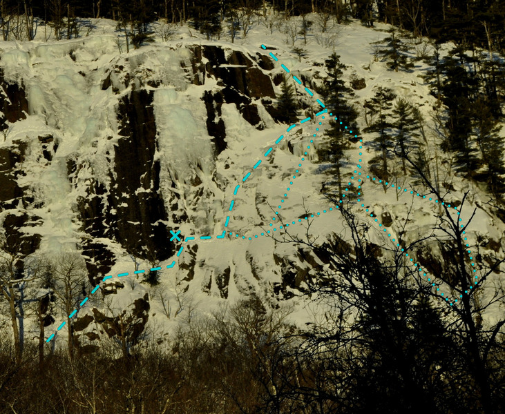 Joe's Route with a lot of snow.  2/16/15