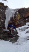 Rock Climbing Photo: Eric Wright exiting East Gully to continue followi...