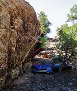 Rock Climbing Photo: Reaching the sharp right hand edge on Memory of a ...