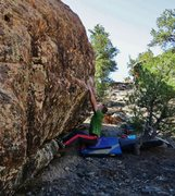 Rock Climbing Photo: Start beta of Memory of a Cold Winter.