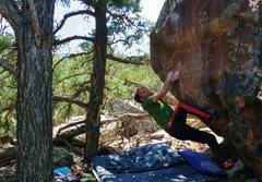 Rock Climbing Photo: Start beta of Psychosphere.