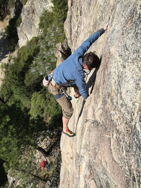 Rock Climbing Photo: troy corliss - 10d rediscovery dome, bowman valley...