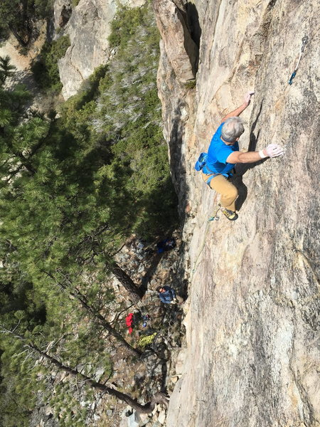 Rock Climbing Photo: max jones high on rediscovery dome, bowman valley,...