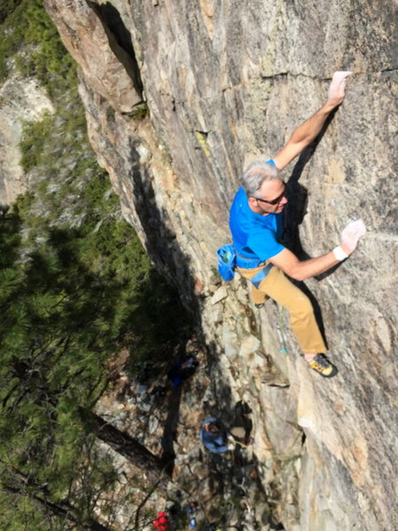 max jones on rediscovery dome, bowman valley, ca.