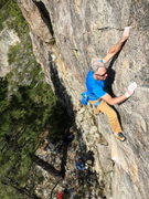 Rock Climbing Photo: max jones on rediscovery dome, bowman valley, ca.
