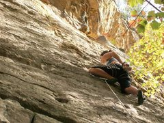 Rock Climbing Photo: 1st 5.11 os, RRG
