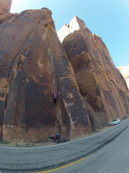 Rock Climbing Photo: Baby Blue 11a