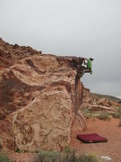 Rock Climbing Photo: About to top out this pretty fun V0.