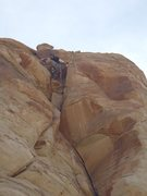 Rock Climbing Photo: When in doubt, stem it out of the roof!