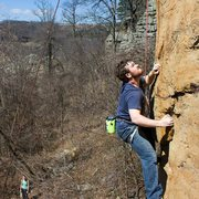 Rock Climbing Photo: Climbing at Horseshoe Canyon Ranch