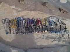 Rock Climbing Photo: Our FA rack