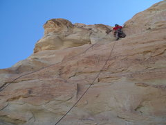 Rock Climbing Photo: Sparse gear placements but pretty good rock