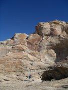 Rock Climbing Photo: Marilla on the FA slab