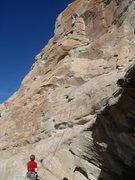 Rock Climbing Photo: Roy on lead