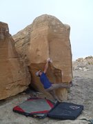 Rock Climbing Photo: Getting to the arete