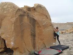 Rock Climbing Photo: The starting crimp rail