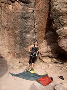 Rock Climbing Photo: Portent, my first lead!