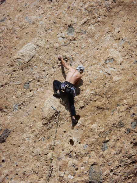 Rock Climbing Photo: The Green Mile about to claim another onsight vict...