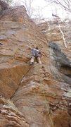 Rock Climbing Photo: Bobby starting up Murano!