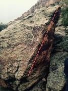 Rock Climbing Photo: Beta for Diamond Arete.