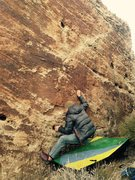 Rock Climbing Photo: Sit start for Watching Soaps....