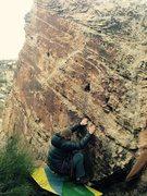 Rock Climbing Photo: Bag on the sit start.