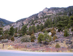 Rock Climbing Photo: This is the rough path the cairned trail follows u...
