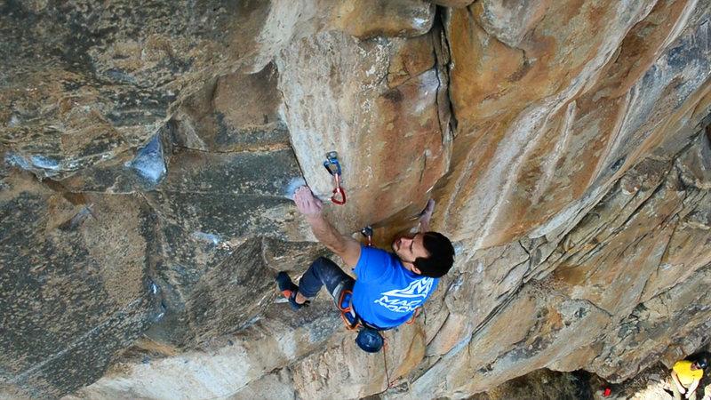 Rock Climbing Photo: Zach on the send.