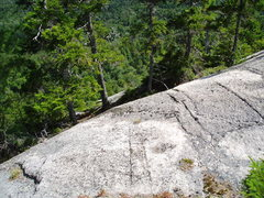 Rock Climbing Photo: This is 25-40 ft Left, and a bit below, the area o...