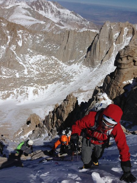 Rock Climbing Photo: Ascending up the 3rd class variation after The Not...