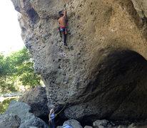 Rock Climbing Photo: Kathmandu 5.10a  Climber: Eric Catig Belay: Christ...
