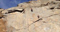 Rock Climbing Photo: Mass Production (Left)  Climber: Eric Catig Photo ...