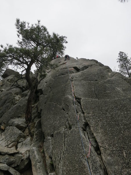 Rock Climbing Photo: Mountaineers Dome, Right Crack 5.4