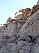 Rock Climbing Photo: Through the first crux, on to the next.  Move up i...