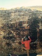 Rock Climbing Photo: Taylor with his hands on the start of Discipline a...