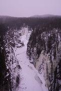 Rock Climbing Photo: The Kuskulana River ice climbs from the bridge at ...