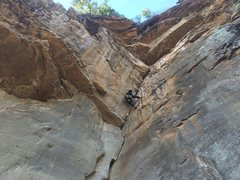 Rock Climbing Photo: Sam throwin' pro and tickin' this beauty!